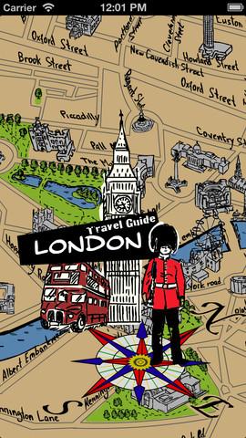 伦敦手绘地图